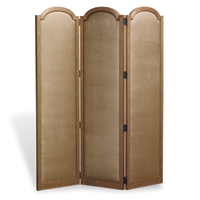 Ava 3 Panel Screen Frame Aged Gold Finish