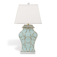 "Baldwin Blue Lamp 33""H"