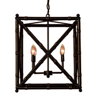 "Baldwin Black Chandelier 24""H"