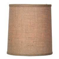 Natural Burlap Hardback Drum Shade