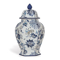 Braganza Blue Jar Medium