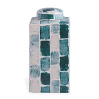 Celadon Tile Square Tea Caddy Small