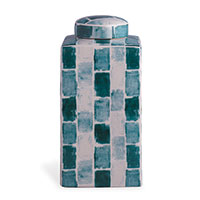 Celadon Tile Square Tea Caddy Large