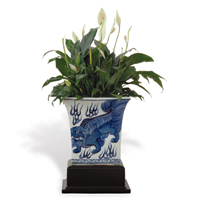 Chow Blue Square Planter With Stand