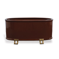 Glenda Brown Oval Planter