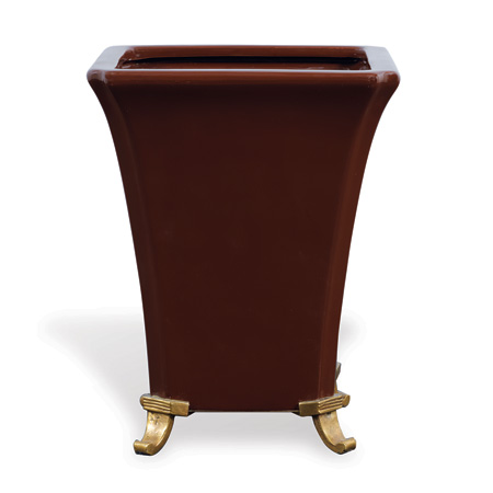 Glenda Brown Square Planter