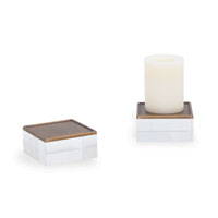 Mod Brass Square Candleholders Set/2