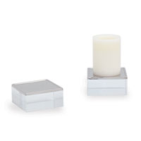 Mod Nickel Square Candleholders (set Of 2)