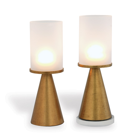 Camden Gold / Frosted Glass Candleholder (set/2)