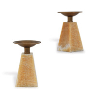 Cairo Tuscan Marble Candleholder--set/2