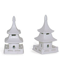 Pagoda Objects Short (set Of 2)
