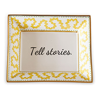 Tell Stories Plate (set Of 2)