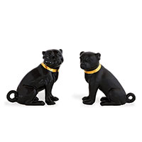 Cecil Black Pug- Pair