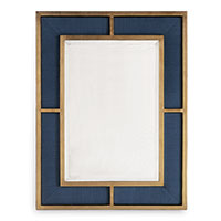 Bedford Gold Mirror/breeze Blue