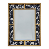 Bedford Gold Mirror / Black Orchid Fabric