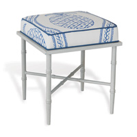 Doheny White Single Blue Pineapple Bench Kit