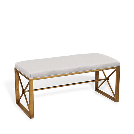 Medallion Gold Double Bench