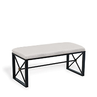Medallion Black Double Bench