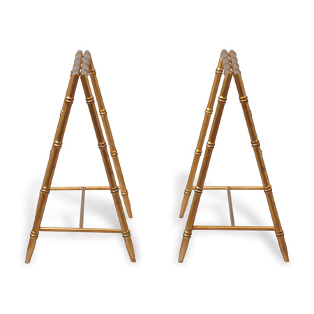 Baldwin Gold Trestle Table Bases (set Of 2)