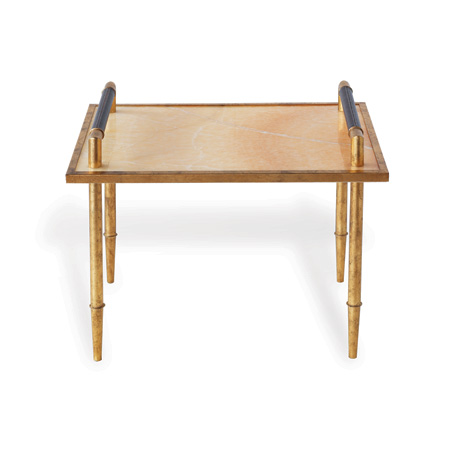 "Benton Gold/marble Table 19.5""H"