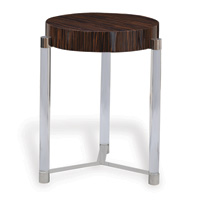 "Maxwell Brown Veneer Accent Table 24""H"