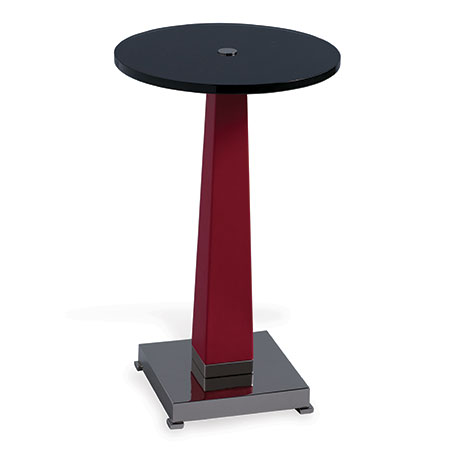 Cairo Red/nickel Accent Table