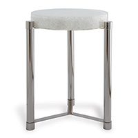 Stoneridge White / Nickel Accent Table
