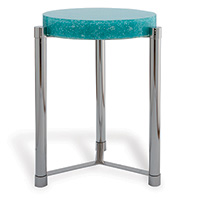 Stoneridge Turquoise / Nickel Accent Table