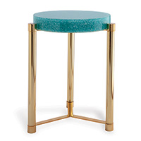 Stoneridge Turquoise / Gold Accent Table