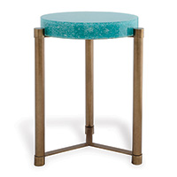 Stoneridge Turquoise / Aged Brass Accent Table