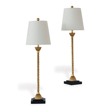 Delfern Gold Buffet Lamps (set Of 2)