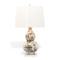 "Chinoise Exotique Lamp--ivory Lizard 31""H"
