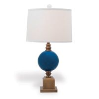 "Rutherford Turquoise Lamp 30""H"