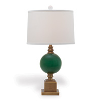 "Rutherford Emerald Lamp 30""H"