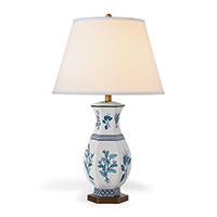 Botanical Blue Lamp