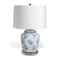Isleboro Eve Blue Lamp