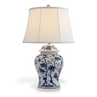 "Georgia Blue Lamp 31""H"