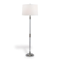 "Maxwell Nickel Floor Lamp 64""H"