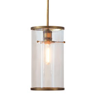 Cassidy Brass/clear Pendant With Pole