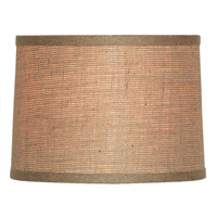 Natural Burlap Drum Shade