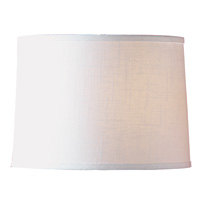 White Textured Drum Shade