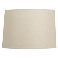 Dark Linen Hardback Drum Shade