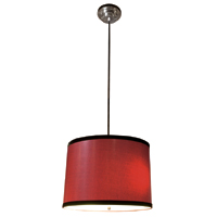 Red Lizard Drum Pendant Shade