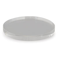 "Clear Lucite Round Stand 9""D (set Of 2)"