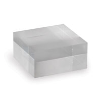 "Acrylic Stand Square 4"" (set Of 2)"