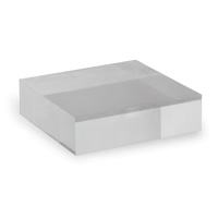 "Lucite Stand 7"" Square/set Of 2"